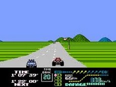 ファミコングランプリIIスリーティーホットラリー (Famicom Grand Prix II 3D Hot Rally / Famikon guranpuriII surîdî hotto rarî) in-game
