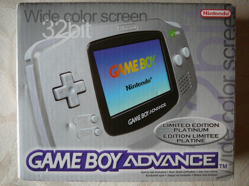 Game Boy Advance Edition Limitée Platine