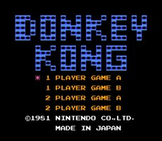 Donkey Kong NES CLASSICS in-game