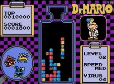 Dr Mario NES CLASSICS in-game