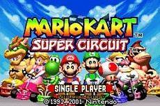 Mario Kart Super Circuit in-game