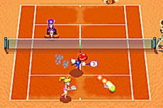Mario Power Tennis in-game