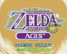 The Legend Of Zelda : Oracle Of Ages in-game