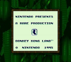 Donkey Kong Land in-game