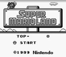 Super Mario Land in-game