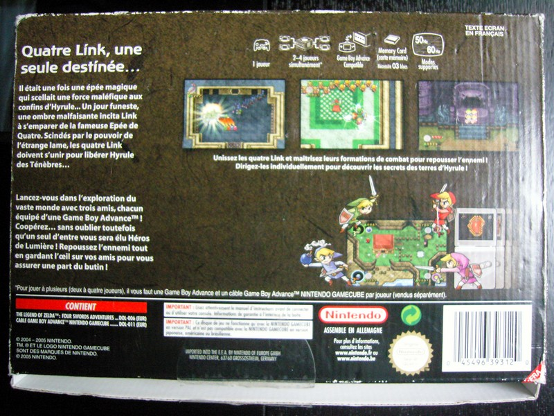 Carton The Legend of Zelda : Four Swords Adventures