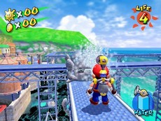 Super Mario Sunshine in-game