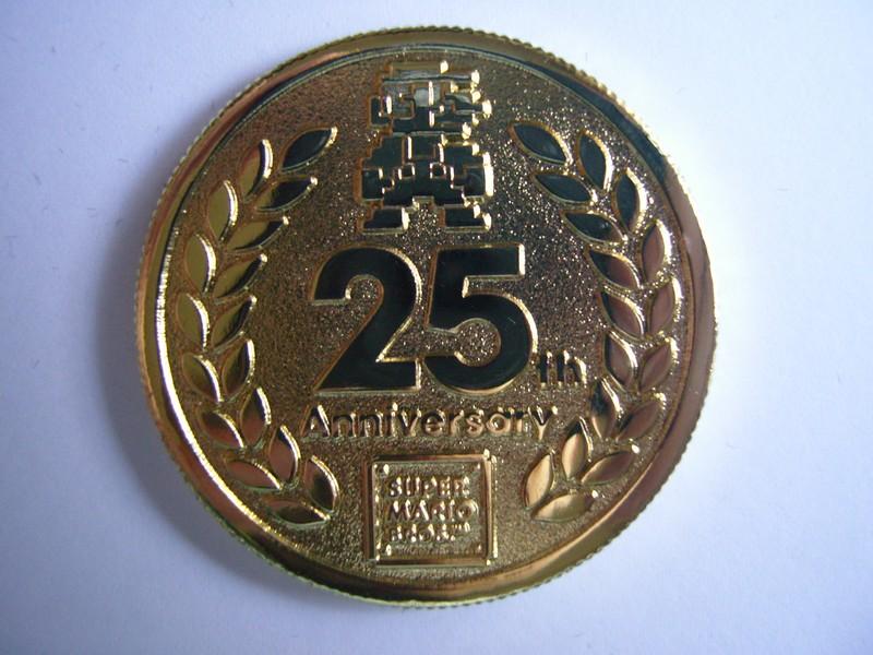 Pièce commémorative 25 ans de Mario