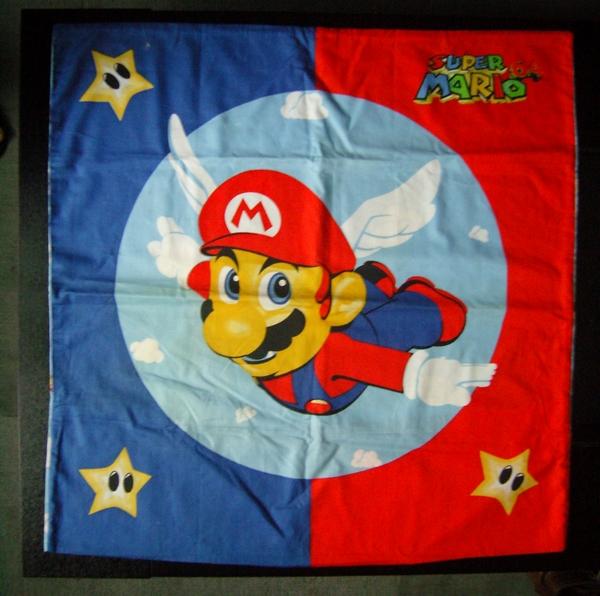 Taie d'oreiller Super Mario 64