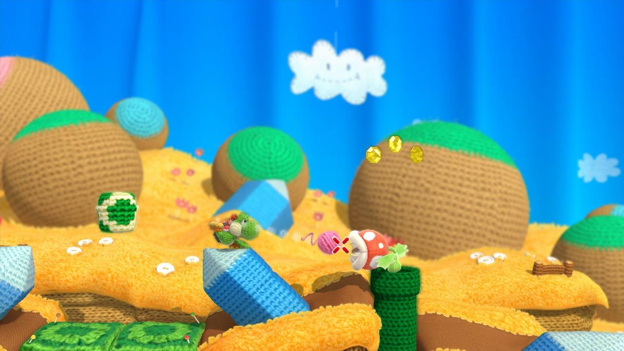 Yoshi's Woolly World Edition Amiibo Yoshi Laine Vert in-game