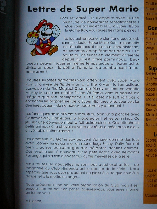 Edition Club Nintendo 1993