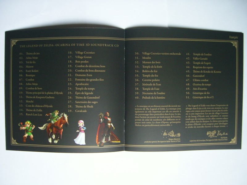 The Legend Of Zelda : Ocarina Of Time 3D Soundtrack CD - Club Nintendo France 2011