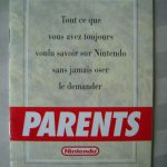 Livret du Club Nintendo à usage des parents