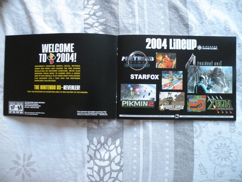 Brochure E3 2004 Nintendo GameCube et GBA SP