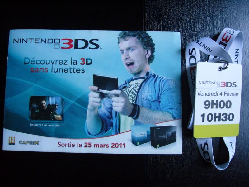 Event 3DS Paris Louvre février 2011
