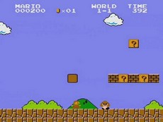 Super Mario Bros in-game
