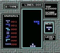 Tetris in-game