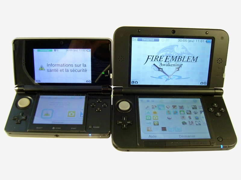 Comparatif Nintendo 3DS / 3DS XL.