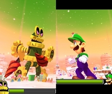 Mario & Luigi Dream Team Bros. in-game