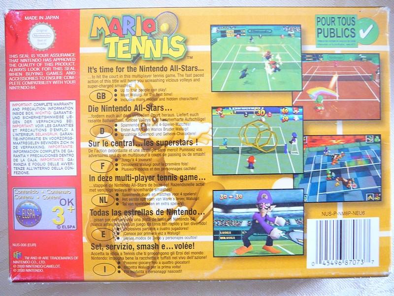 Boîte Mario Tennis