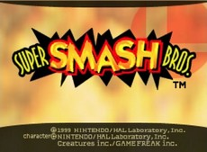 Super Smash Bros in-game
