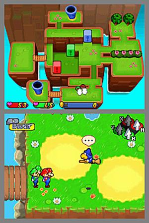 Mario & Luigi : Partners In Time in-game