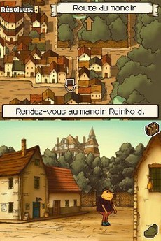 Professeur Layton Et l'Étrange Village in-game