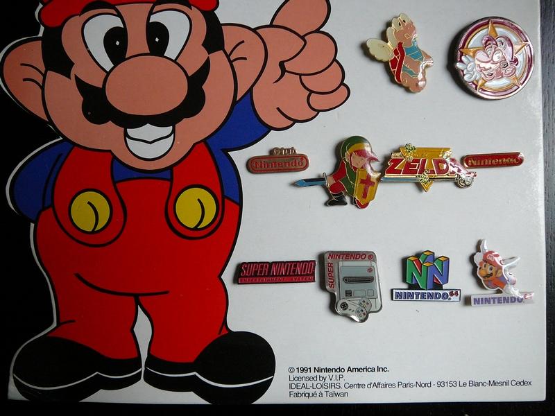 Présentoir de pin's Nintendo