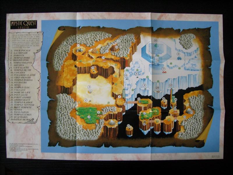 Carte Mystic Quest Legend
