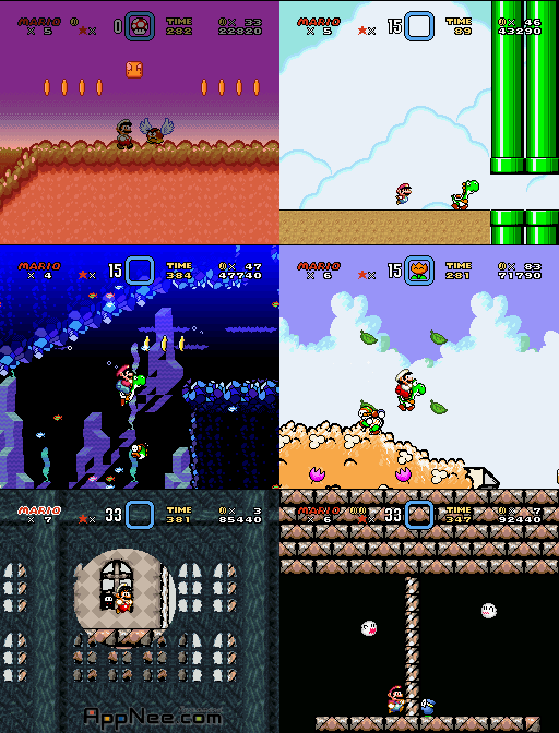 Brutal Mario World (cartmod) in-game