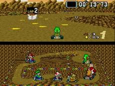 Super Mario Kart in-game