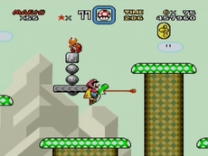 Super Mario World in-game