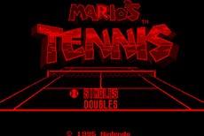 Mario's Tennis in-game
