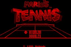 Mario's Tennis in-game
