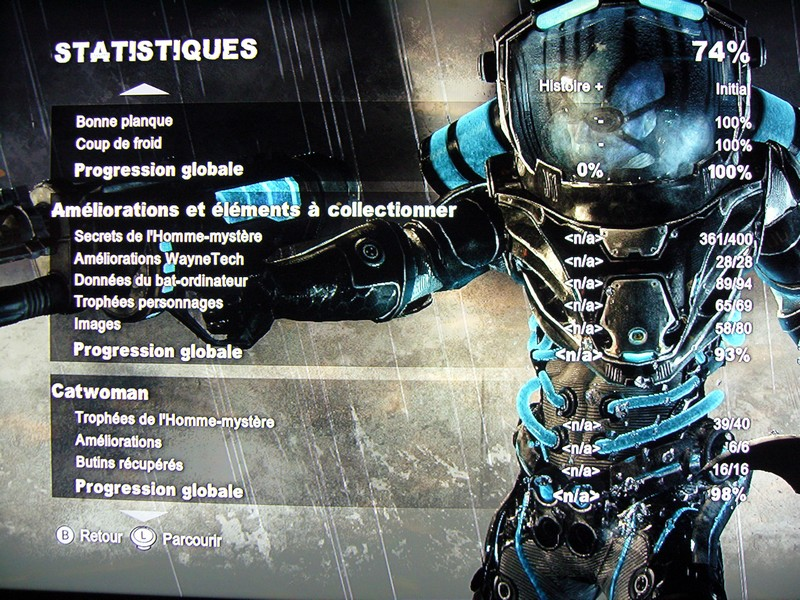 Batman Arkham City : Armored Edition jeu terminé