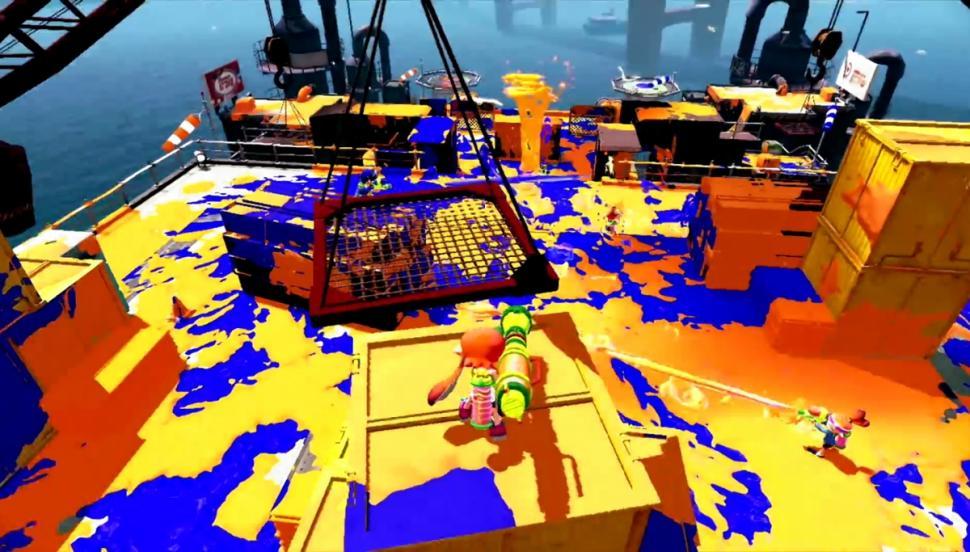 Splatoon Edition Amiibo Squid in-game