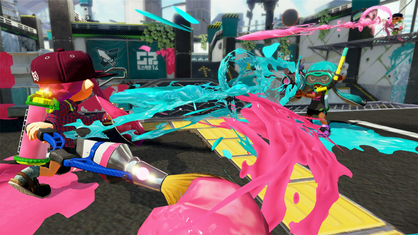 Splatoon Edition Amiibo Squid in-game