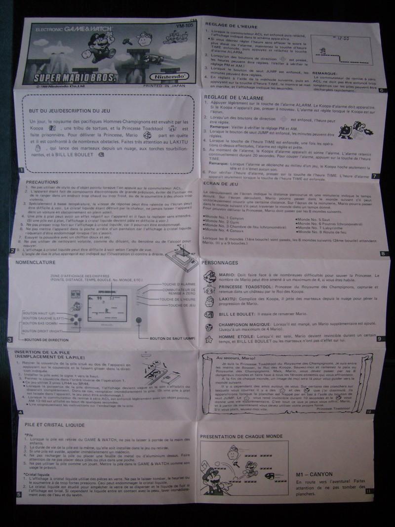 Notice FR Game & Watch Super Mario Bros.
