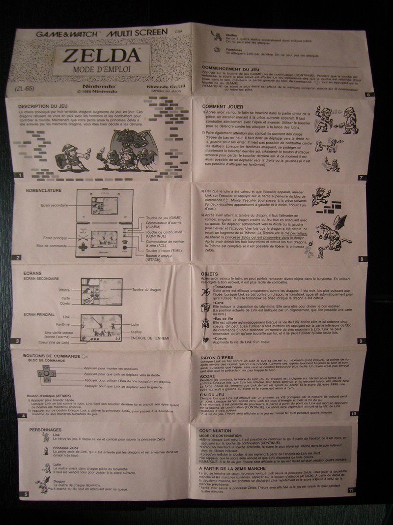 Notice FR Game & Watch Zelda