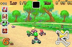 Mario Kart Super Circuit in-game