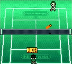 Mario Tennis in-game