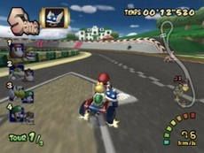 Mario Kart Double Dash!! in-game