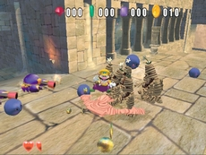 Wario World in-game