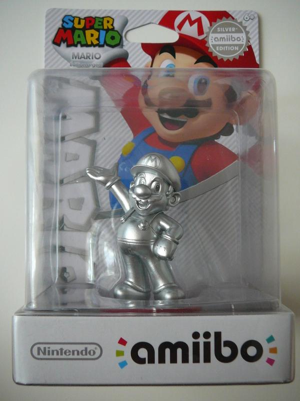 Amiibo Mario Edition Argent