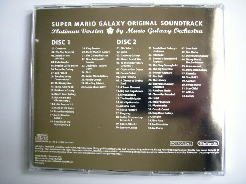 Super Mario Galaxy Original Soundtrack Platinum Edition - Club Nintendo France 2008