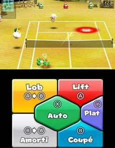 Mario Tennis Open in-game