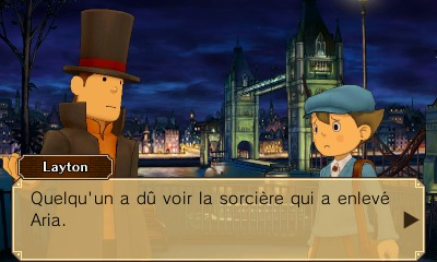 Professeur Layton vs Phoenix Wright : Ace Attorney in-game