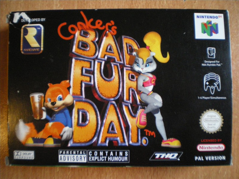 Boîte Conker's Bad Fur Day