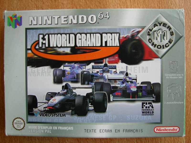 Boîte F1 World Grand Prix