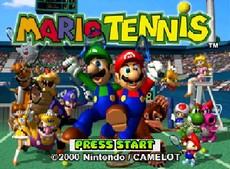 Mario Tennis in-game